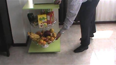 Mueble auxiliar para cocina con torno metalico   YouTube