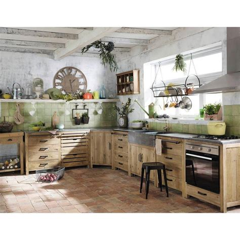 Mueble bajo de cocina de pino reciclado An.140 | Cocina ...