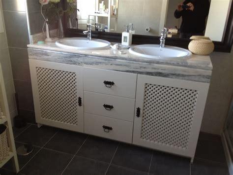 Mueble bajo lavabo cajonera celosía   Plena carpintería