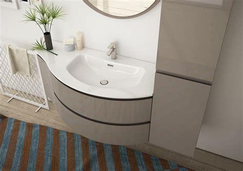 Mueble bajo lavabo simple suspendido en HPL con armario ...