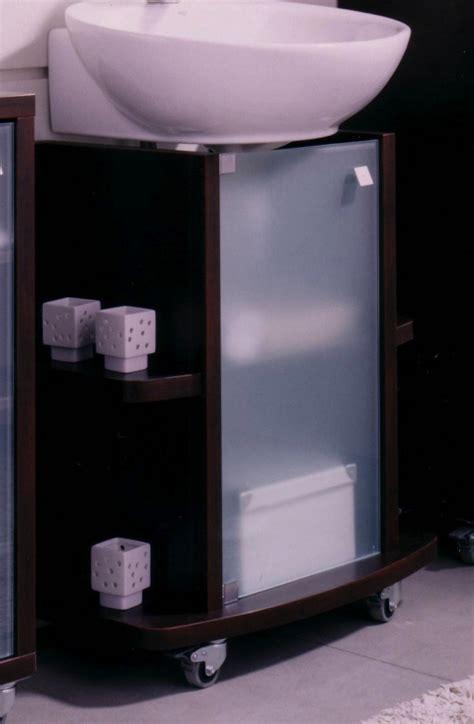 Mueble Bajo Para Lavabo Wengue, Con Puerta De Cristal ...