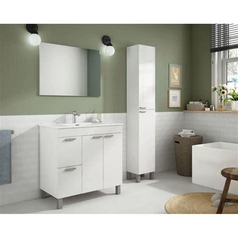 Mueble Baño Aktiva 80 CM + Espejo + Lavabo | Mobelfy