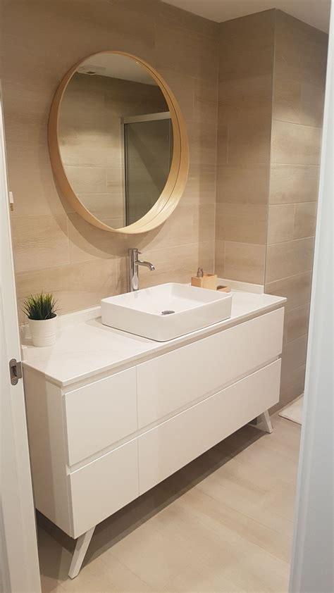 Mueble baño lacado blanco. Espejo Ikea | Muebles de baño ...