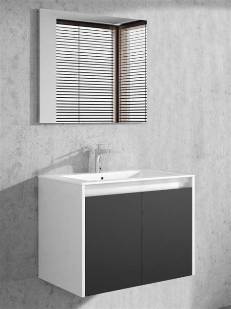 Mueble Baño O Aseo Gali Con Espejo Moderno Color Blanco ...
