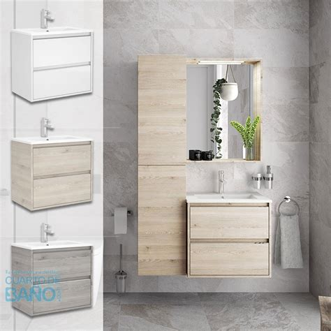 Mueble baño S40 Salgar 60 cm y fondo reducido lavabo