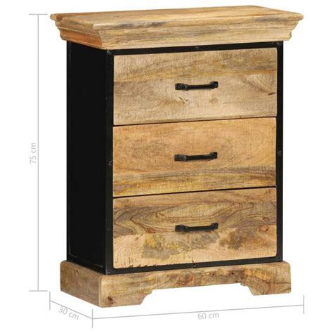 Mueble con cajones 60x30x75cmmaderamaciza demango Vida XL ...