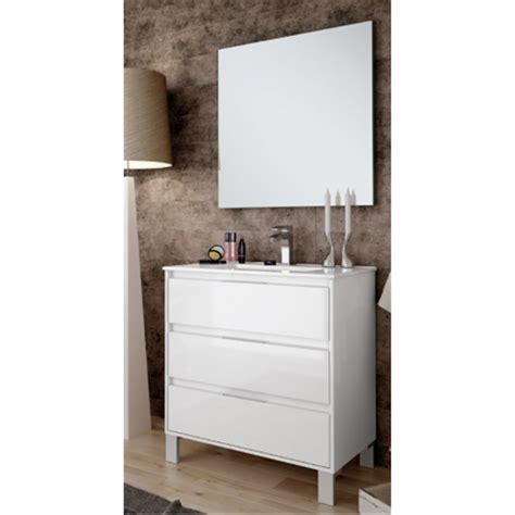 Mueble con lavabo 80 cm Blanco Lacado Bolton BañoStar ...
