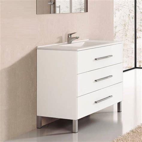 Mueble con lavabo Blanco brillo Ribera 70 TEGLER 12540355 ...