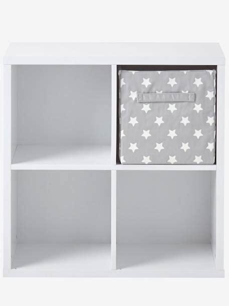 Mueble de almacenaje 4 casilleros blanco   Vertbaudet
