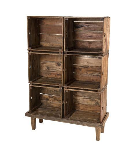 Mueble de almacenaje con 6 cajas en madera de caoba