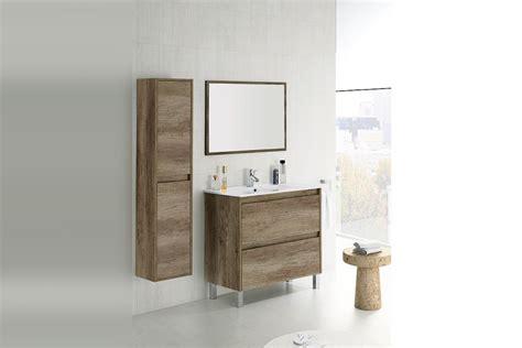 Mueble de baño 80 cm con 2 cajones en color Roble NORDIK