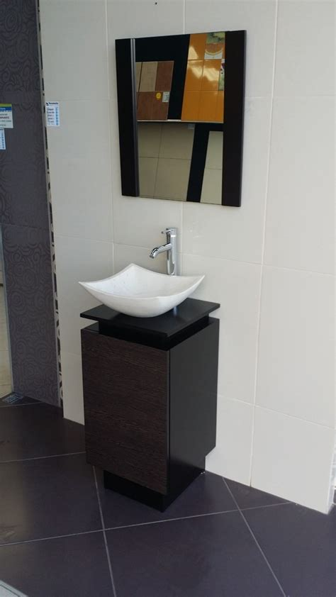 Mueble De Baño 80x40 Color Chocolate Ovalin De Marmol ...