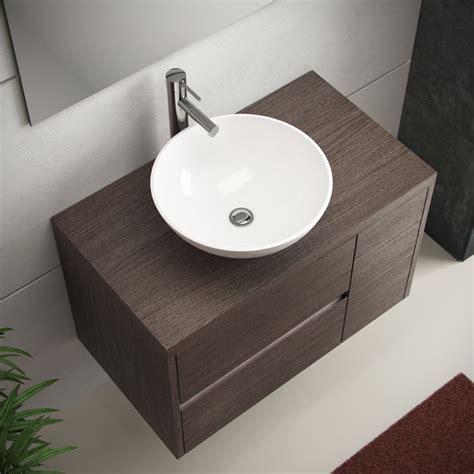 Mueble de baño Aries de 80 en color roble medio con lavabo ...