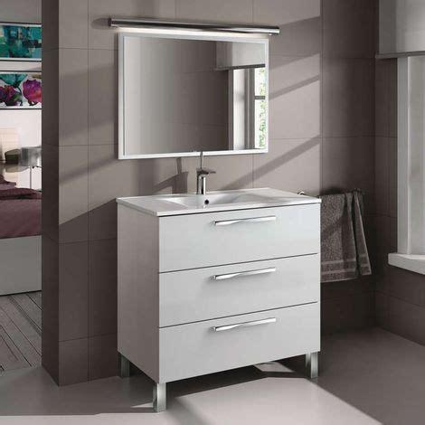 Mueble de baño con espejo incluido Taria 86x80 cm Color ...