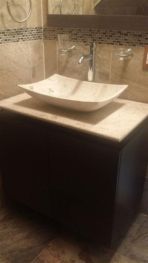 Mueble De Baño Con Lavabo De Marmol Y Espejo Mdf Bety ...