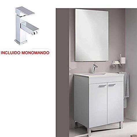 Mueble De Baño De 2 Puertas + Lavabo + Espejo Y Monomando ...