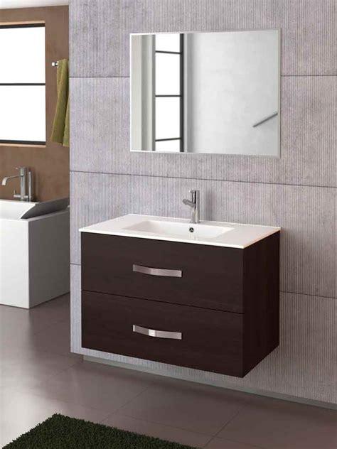Mueble de baño Deva 70 de Torvisco en color wengué