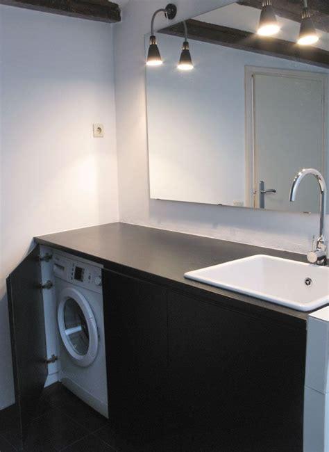 mueble de baño lacado con lavadora escondida | Baños ...