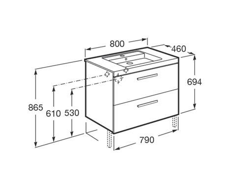 Mueble de baño + Lavabo Roca Prisma 2Cajones 80cm Fresno