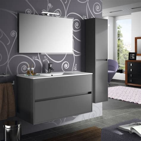 Mueble de baño + Lavabo Salgar Noja 100 Gris Mate