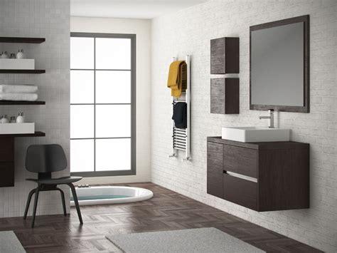Mueble de baño modelo Aries de 80 cms en color wengue, con ...