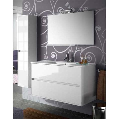 Mueble de baño NOJA 100 Blanco Brillo lavabo cerámico salgar