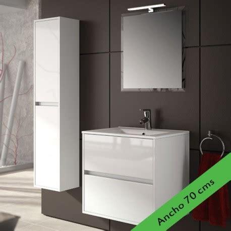 Mueble de baño NOJA Salgar LAVABO + ESPEJO + APLIQUE LED