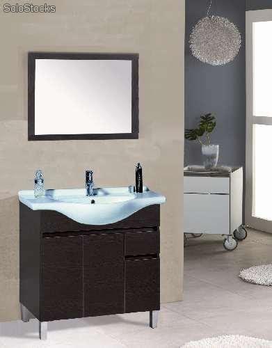 Mueble de baño Siena 80 f 33 wengue para lavabo panza 82 y ...