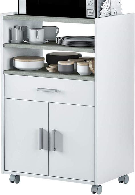 Mueble de cocina auxiliar microondas blanco   Tu tienda de ...