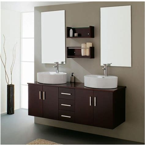 Mueble de cuarto de baño con dos lavabos :: Imágenes y fotos