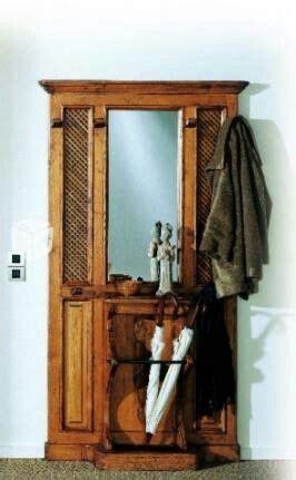 Mueble de entrada antiguo con paragüero   Muebles de ...