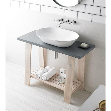 Mueble de lavabo Encimera  40 x 100 x 73 cm, Gris  | BAUHAUS