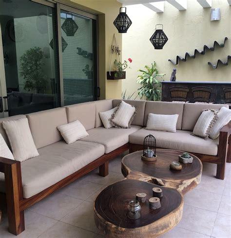Mueble de madera de parota para terraza: hogar de estilo ...