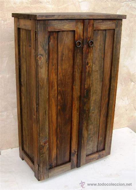 Mueble de madera rustico , alacena color nogal   Vendido ...