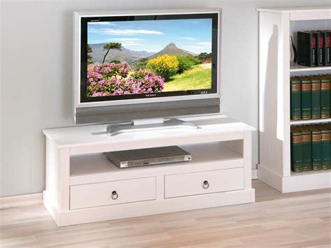 Mueble de módulo TV con hueco estilo romántico en color blanco