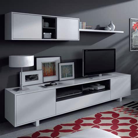Mueble de salón blanco brillo por sólo 129 euros ...