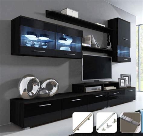 Mueble De Salón Claudia Negro Mod. 9  con Tiradores De ...