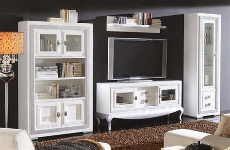 Mueble de salón con vitrina y mueble televisión   pino ...