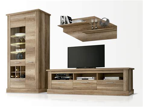 Mueble de salón modular en roble, modelo para tv combinado ...
