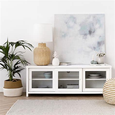 Mueble de televisión blanco Atrium   Kenay Home
