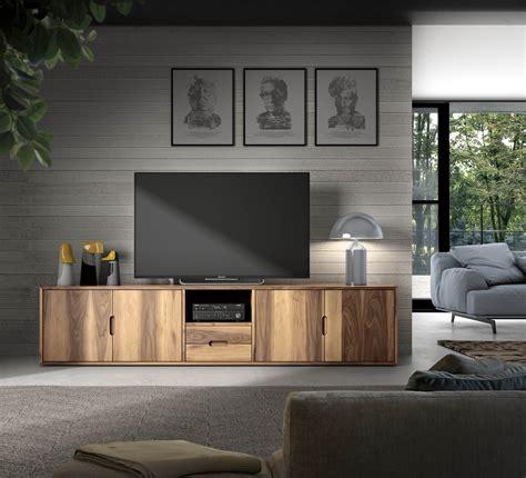 Mueble de TV de madera con vetas  Palisandro Interiorismo