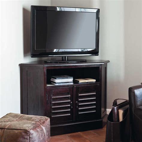 Mueble de TV esquinero de madera maciza de palo rosa An ...