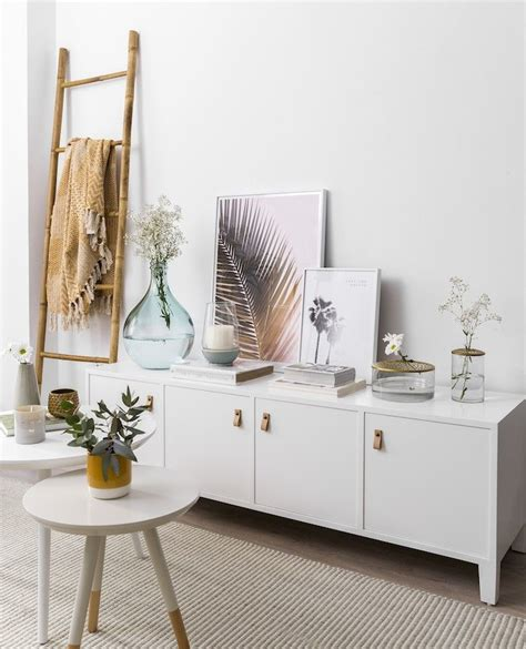 Mueble de tv madera blanco Liv   Kenay Home