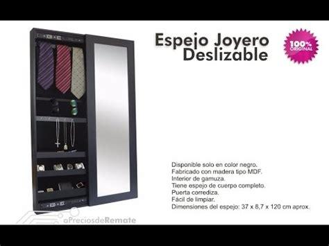 Mueble Espejo Joyero Deslizante organizador de Joyas y ...