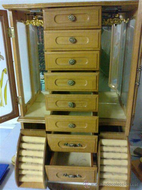 mueble joyero en madera y caja de musica   Comprar ...