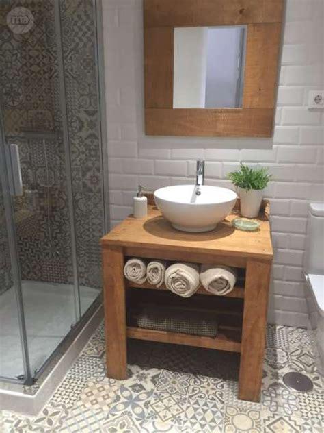 Mueble lavabo rustico vintage madera mac | Milanuncios