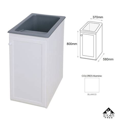 Mueble lavadero pila aluminio Apolo   Online
