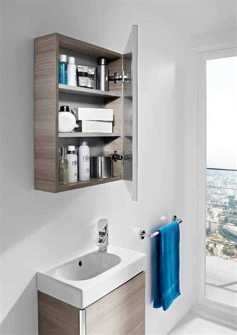 Mueble Mini con armario espejo Roca | Baño Decoración