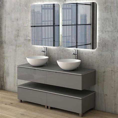 Mueble para Baño 140 cm Dúo con 2 Lavabos Sobre Encimera