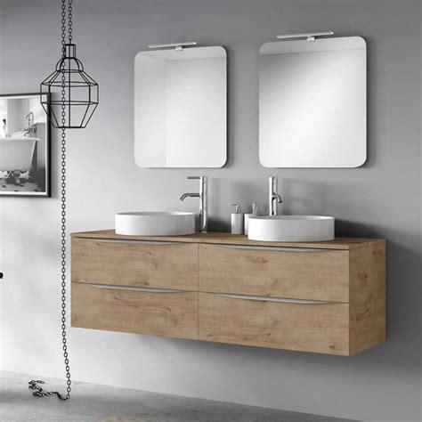 Mueble para Baño 160 cm Doble Lavabo Sobre encimera Landes